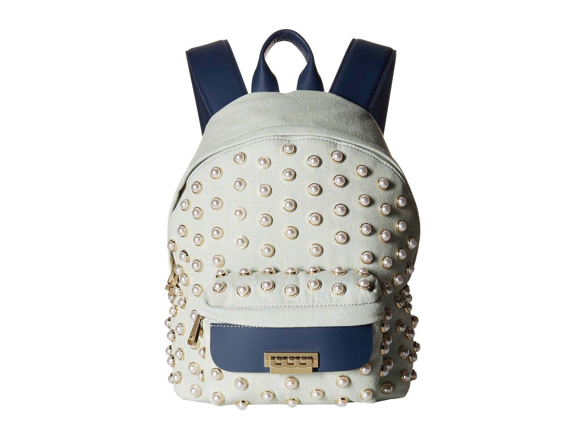 Mochila para Mujer ZAC Zac Posen Eartha Iconic Small Backpack Denim Pearl Lady  + ZAC Zac Posen en VeoyCompro.net