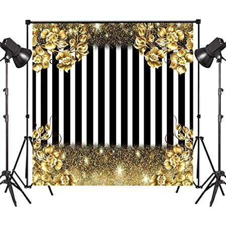 Retro 10x15 FT Photography Backdrop Various Different Cartoon Style Figures on Black and White Stripes Quirky Collection Background for Party Home Decor Outdoorsy Theme Vinyl Shoot Props Multicolor