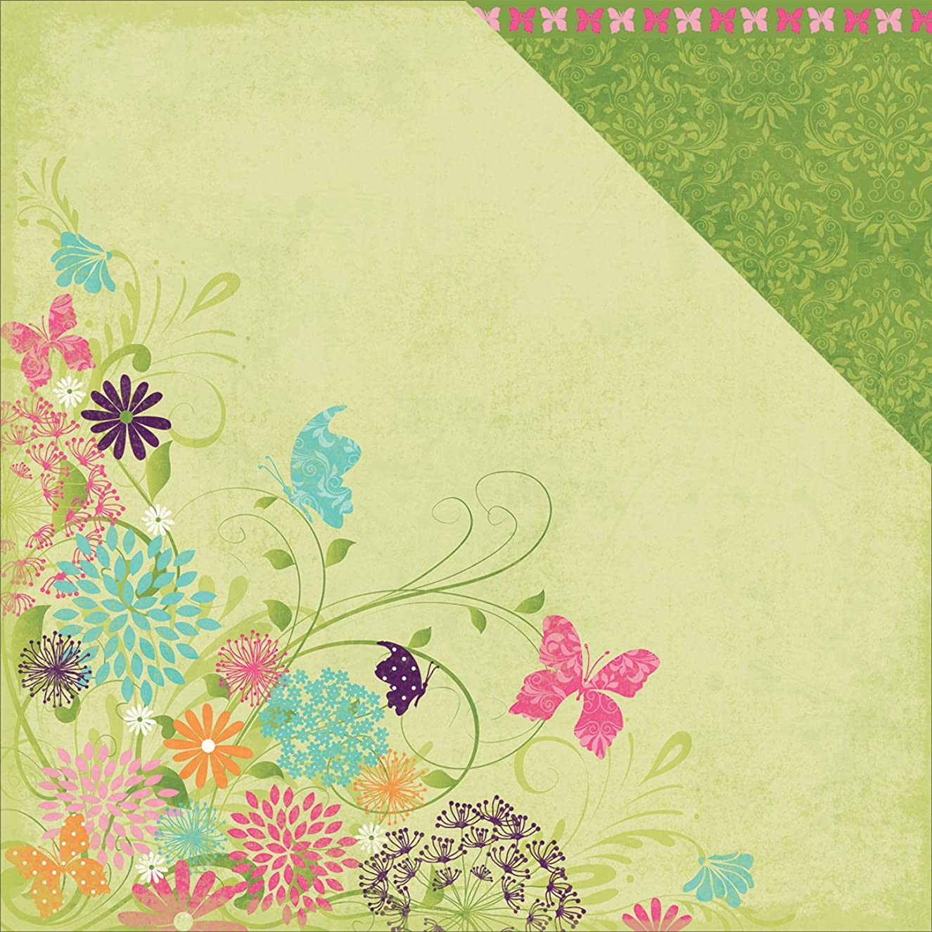 Moxxie Springtime Double, Sided Cardstock, 25 Sheets, 12