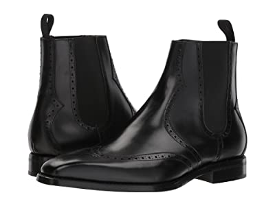 CARLOS by Carlos Santana 1947 Chelsea Boot (Black Full Grain) Men