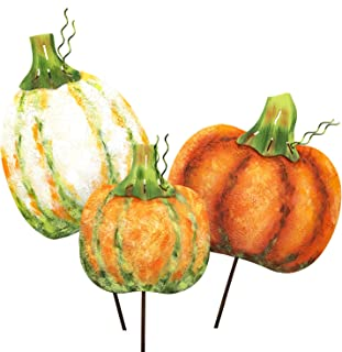 The Round Top Collection - Fall Impression Pumpkins - Metal