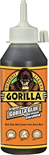 Gorilla Original Gorilla Glue, Waterproof Polyurethane Glue, 8 ounce Bottle, Brown