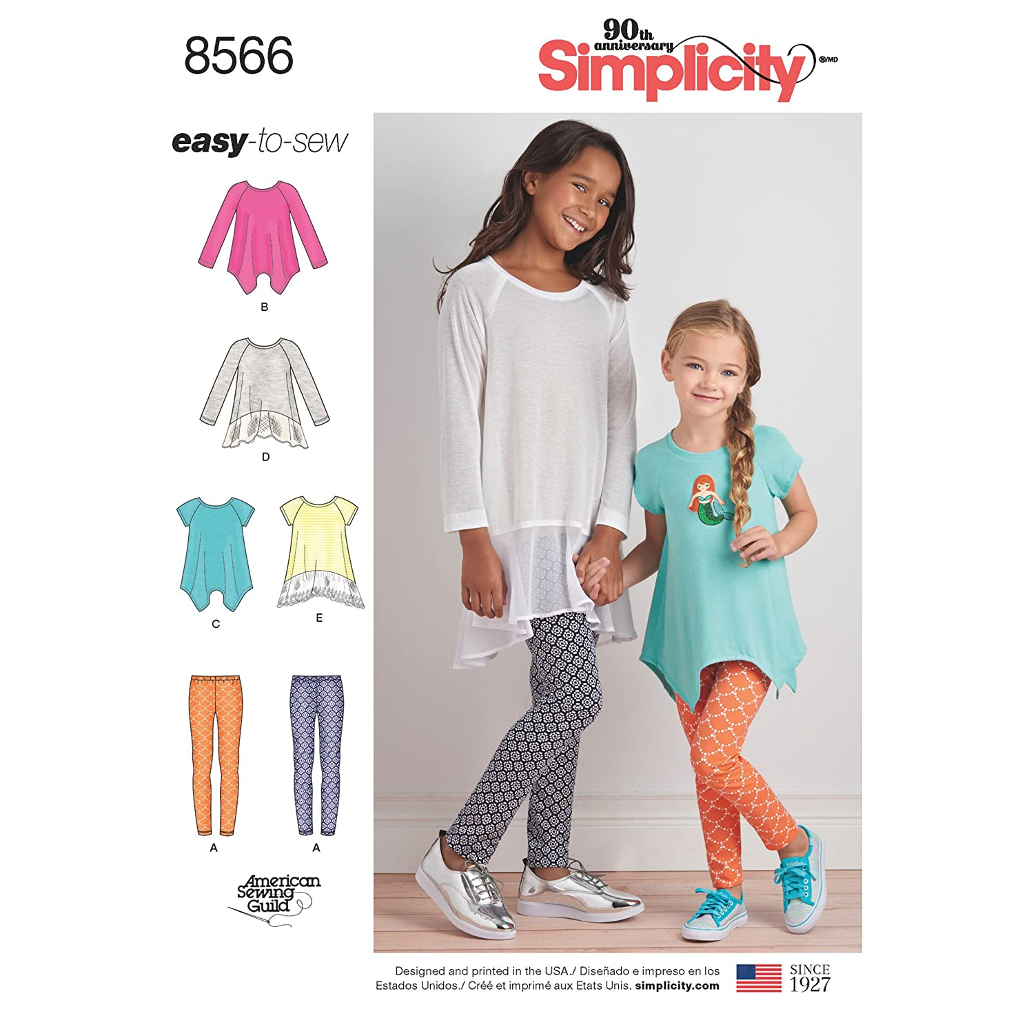 Simplicity Creative Patterns US8566HH Children, HH (3-4-5-6)