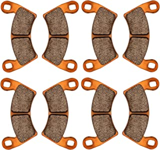 Zinger Brake Pads for Polaris RZR XP 1000 EPS 2014 2015 2016 2017 2018,4 Set Front and Rear Replacement Brake Pads