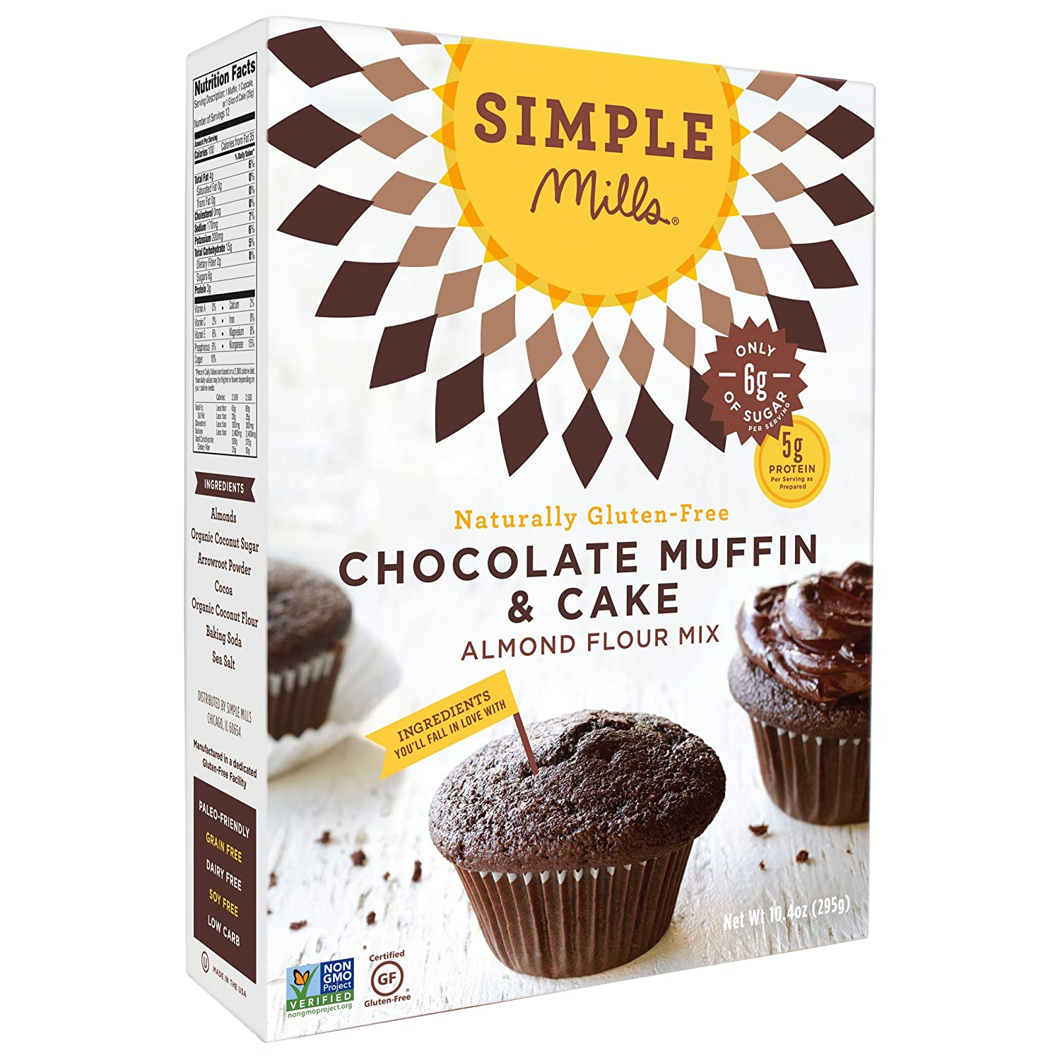 Simple Mills Chocolate Muffin In stock Cake Mix 10 Pack Oz 2 Paleo Max 90% OFF