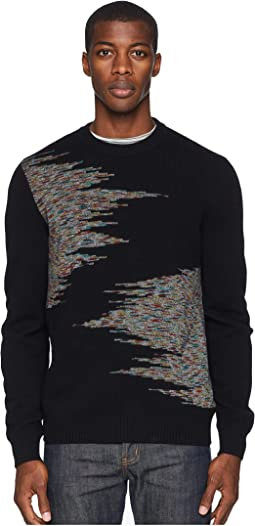 Arty Jacquard Crew Neck Sweater