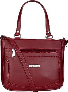 Aisna Women's Kate Handbag(ASN-199)(Maroon)