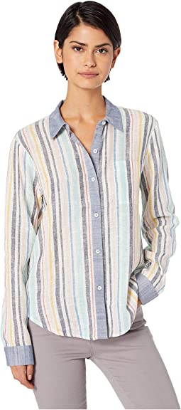 Playa Stripe Button Down Woven Shirt