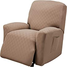 Stretch Sensations, Newport Recliner Slipcover, Standard Recliners, Perfect Chair Protection, Comfortable and Easy Stretch Fabric (Wheat)