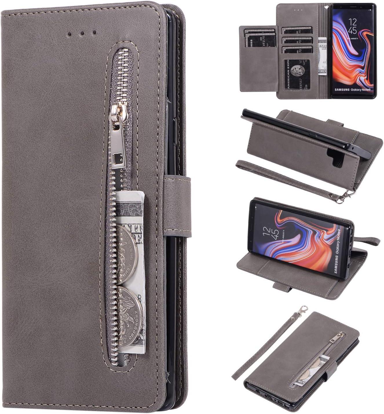 Chiusura Magnetica per Samsung Galaxy Note9 Funzione Supporto LODROC Cover Galaxy Note 9 Flip Cover Custodia Protettiva Caso Libro in Pelle PU con Portafoglio LOZY0200133 Blu