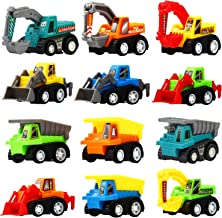 Pull Back Car, 12 Pcs Mini Truck Toy Kit Set, Funcorn Toys Play Construction Engineering Vehicle Educational Preschool for Children Boys Party Favors, Kids Birthday Game Gift Playset Classroom Reward