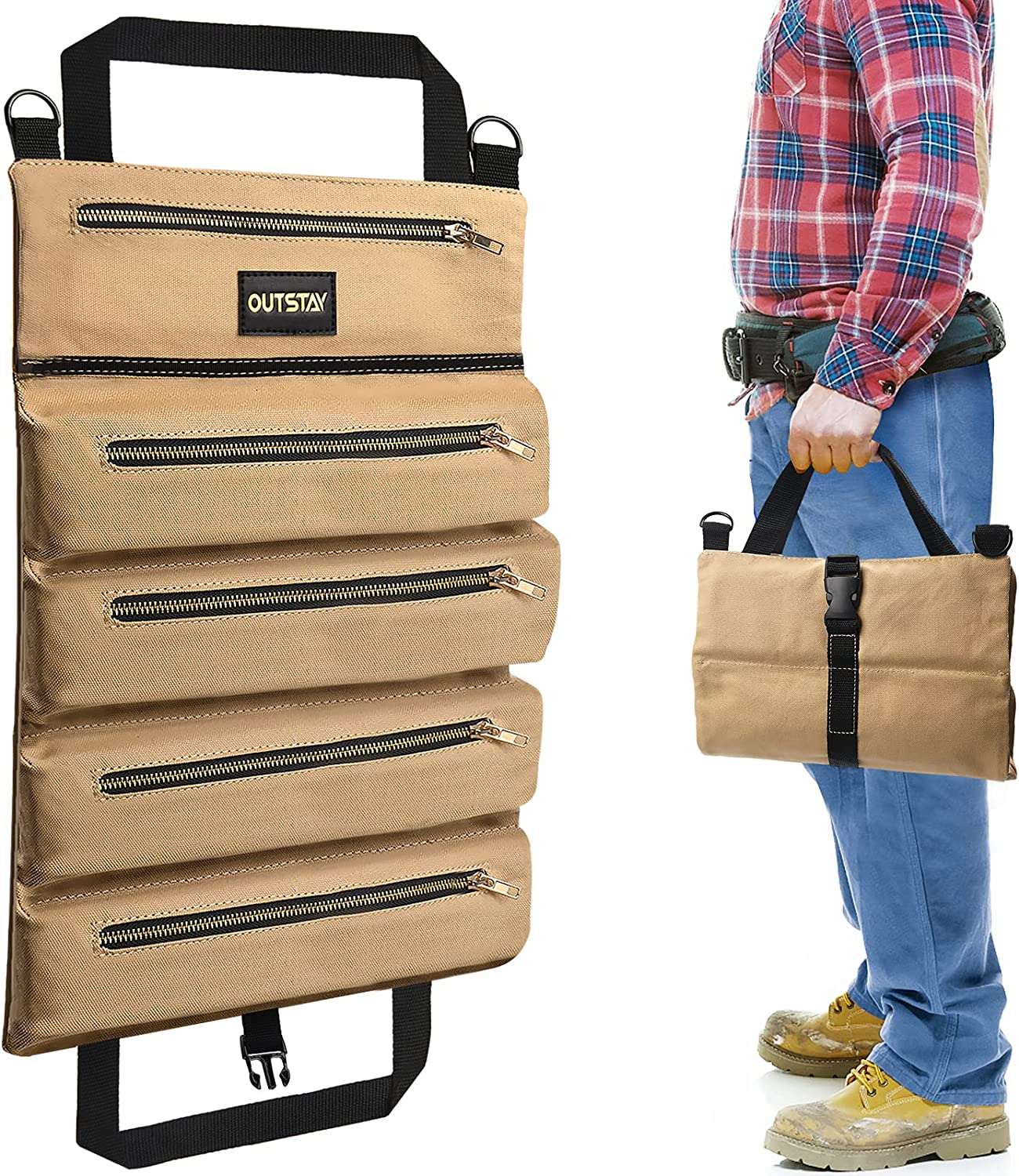 Multi-Purpose Roll Up Tool Bag H Canvas Yuede Organizer Storage Super sale Quantity limited period limited