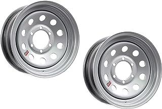 2-Pack Trailer Rim Wheel 16X6 6-5.5 Silver Modular 3760 Lb. 4.27CB