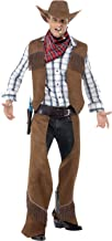 Smiffy's Men's Fringe Cowboy Costume with Waistcoat Chaps Neckerchief and Hat