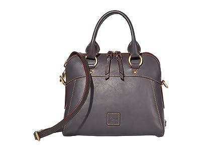 Dooney & Bourke Florentine Cameron Satchel (Slate/Self Trim) Satchel Handbags