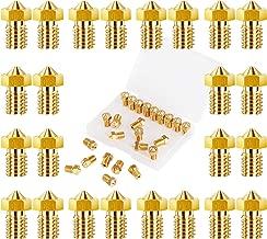 LUTER 24PCS 3D Printer Nozzles Extruder Nozzles E3D Brass Nozzles 0.2mm, 0.3mm, 0.4mm, 0.5mm, 0.6mm, 0.8mm, 1.0mm for E3D-V5 V6 Makerbot with Free Plastic Storage Box