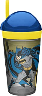 Zak! Designs Zak! Snak Snack & Drink Container Featuring Batman Comics, 4 oz. Snack and 10 oz. Drink in One Easy to Open Container, BPA-Free and Break-Resistant Plastic