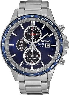 Seiko Men's Solar Chronograph Quartz Watch with Stainless Steel Bracelet SSC431P1