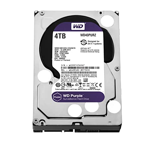 Western Digital Purple 4000GB Serial ATA III - Disco Duro (4000 GB, Serial ATA