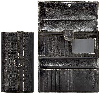 Renato Landini Black Leather For Women - Trifold Wallets