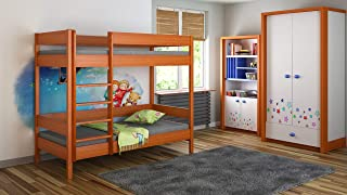 Bunk Beds Kids Children Juniors Single with Foam Coconut Mattress but Drawers Included  180x90  Alder