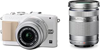 Olympus E-PL5 Interchangeable Lens Digital Camera Double Zoom Kit (White) E-PL5 DZKIT - International Version (No Warranty)