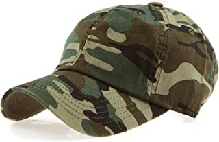 RufnTop Black Eagles 100% Cotton and Denim Washed Classic Dad Hat Plain Dyed Low Profile Baseball Cap