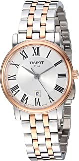 Tissot Womens Carson Swiss Quartz Stainless Steel Dress Watch (Model: T1222102203301), Silver