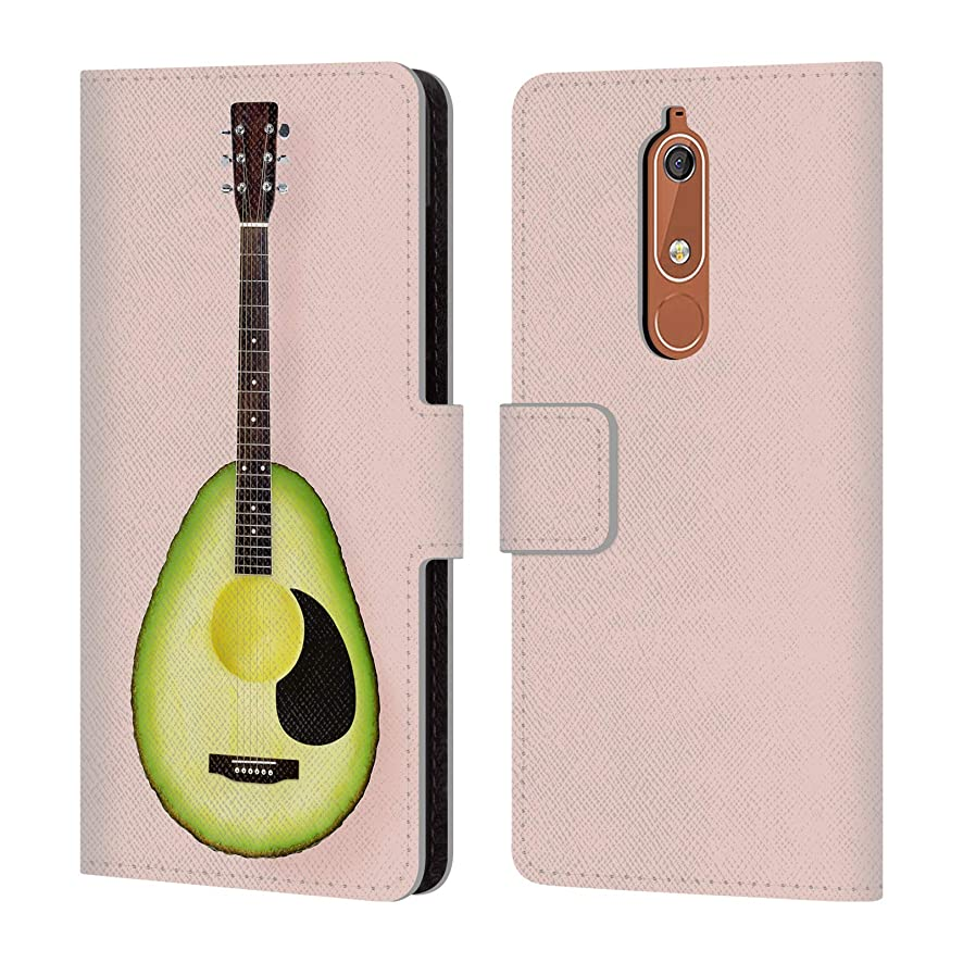 Official Paul Fuentes Avocado Guitar Pastels Leather Book Wallet Case Cover for Nokia 5.1