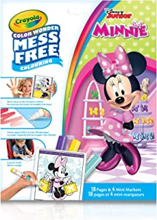 Crayola Color Wonder Mess Free Colouring Minnie Mouse - 18 Pages and 4 Mini Markers