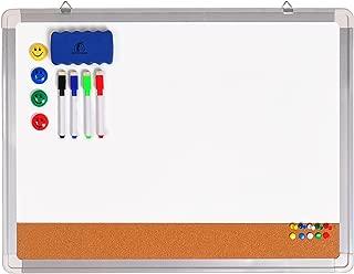 Combination Whiteboard Bulletin Board Set - Dry Erase/Cork Board 24 x 18