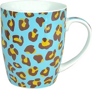 Zrike Brands Leopard Mug, Blue, Set of 4