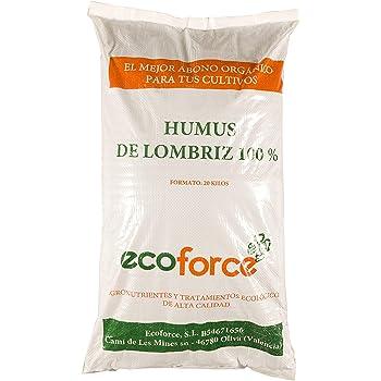 CULTIVERS Humus de Lombriz ecológico de 20 kg (40 L). Abono para ...