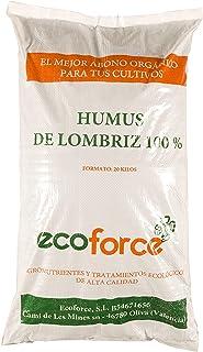 CULTIVERS Humus de Lombriz ecológico de 20 kg (40 L). Abono