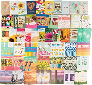 Paper Craft (80 Count) Assorted Variety Boxed All Occasion Greeting Cards With Envelopes Birthday Get Well Sympathy Thank You Cards