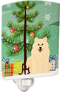 Carolines Treasures Christmas Tree and Alaskan Malamute Ceramic Night Light 6x4 Multicolor