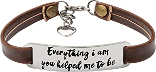 UNQJRY Inspirational Bracelets for Women Personalized...