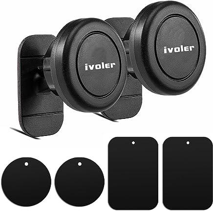 iVoler [2 Pack] Supporto Smartphone Auto Magnetico Adesivo su Cruscotto Porta Cellulare Auto Universale per iPhone, Serie Samsung Galaxy, Huawei, ASUS, Google Nexus, LG, Nokia, Blackberry - Nero