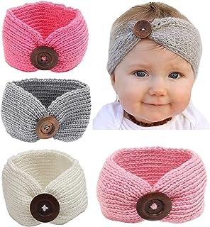 Qandsweet Baby Turban Head Wrap Headbands Girl Knitting...
