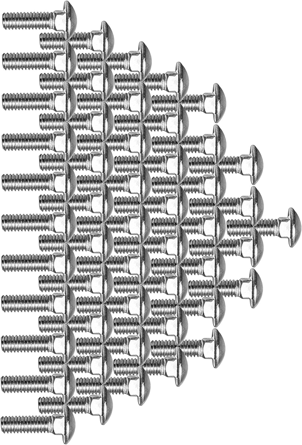 Super-Deals-Shop Stainless Steel Bolt Carriage Bolts Screws Pack Silver Lag Bolts Round Head Fasteners Carriage Bolt Elevator Bolts Full Thread 3//8-16 x 1 10 Pcs