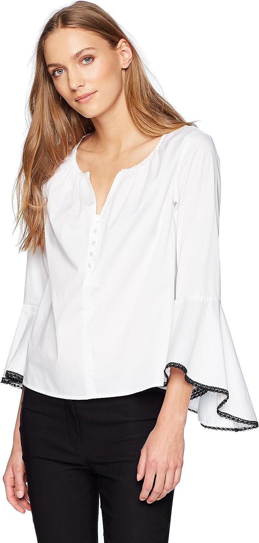 Nanette Nanette Lepore Womens Ls Button Up Shirt Flounce Sleeve Blouse