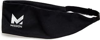 Mission VaporActive Cooling Lockdown Headband,  Jet Black Solid,  One Size