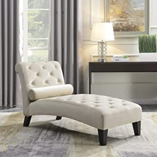 Living Room Design Ideas Leisure Sofa Chair Chaise Lounge Couch Button Living Room Lumber Tufted, Beige