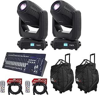 (2) Chauvet DJ Intimidator Hybrid 140SR Moving Heads+Bags+Remotes+Controller