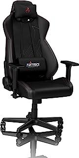 Nitro Concepts S300 Sedia da Gaming - Sedia da Ufficio - Ecopelle PU - 135 kg - Nero/Carbonio