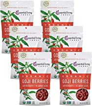 Essential Living Foods Essential Living Foods Organic Dried Goji Berries 6oz, 6 Pack - Vegan, Non-GMO, Gluten Free, Kosher, Resealable Bags, 6 Ounce