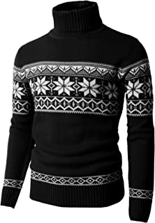H2H Mens Casual Slim Fit Knitted Pullover Sweaters Thermal of Various Christmas Pattern