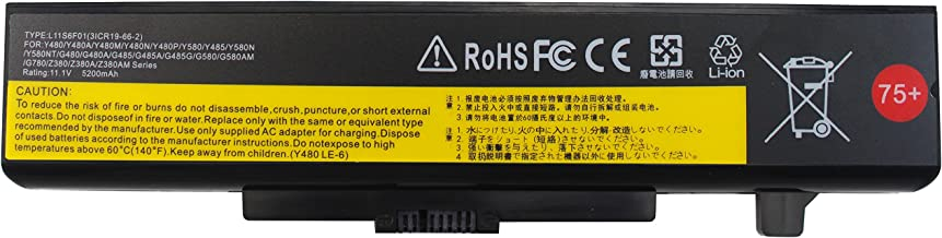 Gomarty 5200MAH L11S6Y01 L11L6Y01 Laptop Battery for Lenovo IdeaPad Y480 Y580 G480 G580 Z380 Z480 Z580 Z585 Series L11M6Y01 L116Y01 L11S6F01 L11L6F01 L11P6R01-1 Year Warranty