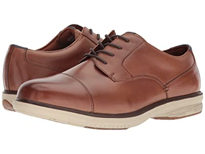 Nunn Bush Melvin Street Cap Toe Oxford with KORE Slip Resistant Walking Comfort Technology (Camel Multi) Men