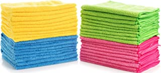 Simpli-Magic Multi Color 79107-36 Large Microfiber Cloths Pack of 36, Ideal for Home, Kitchen, Auto, Glass, Makeup Removing & Pets, 36 Pack